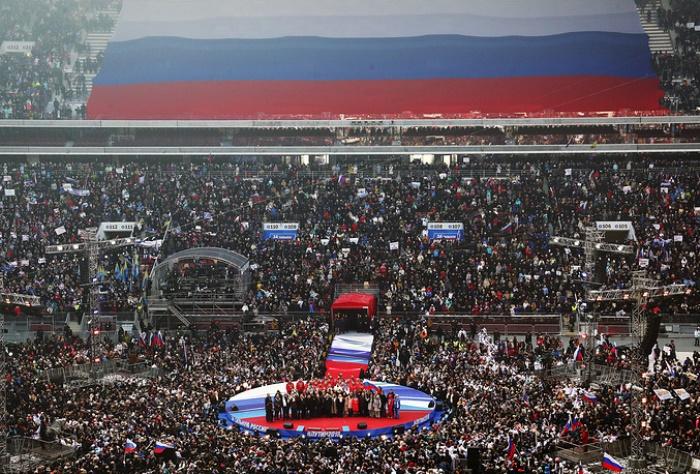 НА 3 МАРТ: Огромен митинг в Москва в подкрепа на Путин