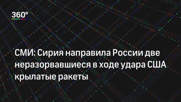 СИРИЯ изпрати в Русия 2 невзривени ФАЩ-ракети