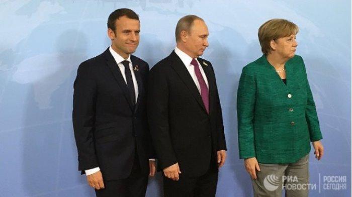 """МАКРОН и МЕРКЕЛ в Санкт-Петербург с идея за """"нефтоЕвро"""""""