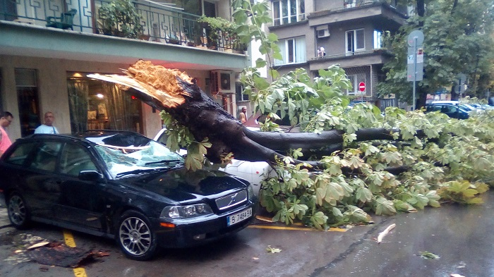 НЕВИЖДАН ураган във Варна, потрошени коли...