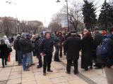 Протестът пред Общината се политизира